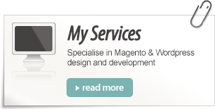 Services - Focus on web design and development and print design.